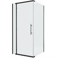 Душевой уголок с одной распашной дверью Bravat BlackLine BS090.3113A Черный