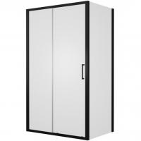 Душевой уголок с одной раздвижной дверью Bravat BlackLine BS120.3101B Черный