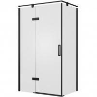 Душевой уголок с одной распашной дверью Bravat BlackLine BS120.3112AB Черный
