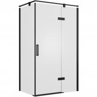 Душевой уголок с одной распашной дверью Bravat BlackLine BS120.3113AB Черный