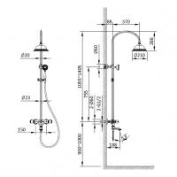 Душевая система AltroBagno Beatrice 030406 Cr Хром