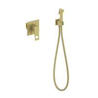 Смеситель встраиваемый с гигиеническим душем TIMO Briana 7189/17SM Золото матовое