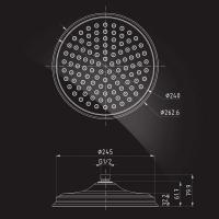 Тропический душ Elghansa Shower Head CD-260 Chrome