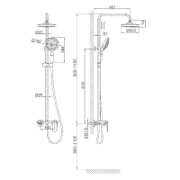 Душевая система D&K Bayern Durer DA1253701B06