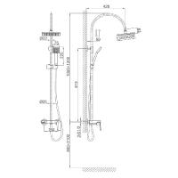 Душевая система D&K Rhein Lessing DA1323701C05