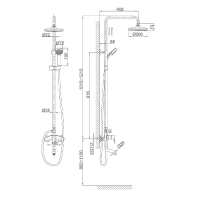 Душевая система D&K Rhein Marx DA1393701B07