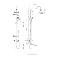 Душевая система D&K Hessen Kassel DA1424701D08
