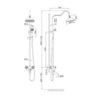 Душевая система D&K Hessen Hercules DA1424741D08