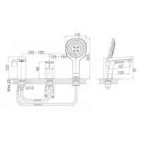 Смеситель на борт ванны D&K Berlin Technische DA1434915