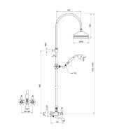 Душевая система Webert Dorian DO721208015 Хром