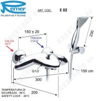 Cмеситель для ванны Remer Eagle E02 Хром