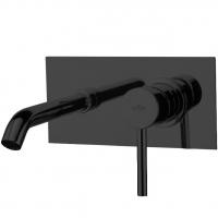 Cмеситель для раковины настенный Webert Elio EL830606560 Черный