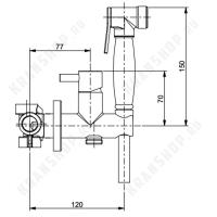 Гигиенический душ со смесителем Webert EL870301065 Бронза