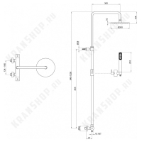 Душевая система Webert Elio EL980507015PVC Хром