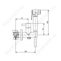Гигиенический душ со смесителем Webert EL870302065 Бронза