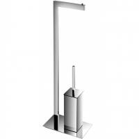 Стойка с туалетным ершиком и бумагодержателем AltroBagno FS 083305 Cr Хром