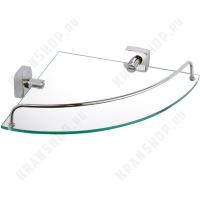 Полка стеклянная угловая Fixsen Kvadro FX-61303A Хром