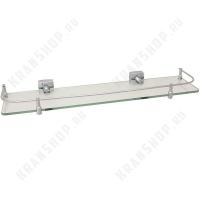 Полка стеклянная с ограничителем Fixsen Kvadro FX-61303В Хром