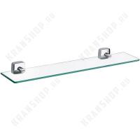 Полка стеклянная Fixsen Kvadro FX-61303 Хром