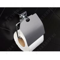 Бумагодержатель с крышкой Fixsen Kvadro FX-61310 Хром