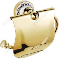 Бумагодержатель с крышкой Fixsen Bogema Gold FX-78510G Золото
