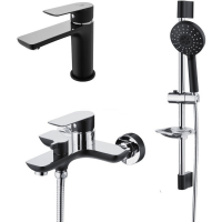 Комплект для ванной комнаты GANZER SUSANNE GZ21037C CHROME/BLACK