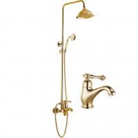 Набор для ванны 2 в 1 GANZER SUSANNE GZ77067E Золото
