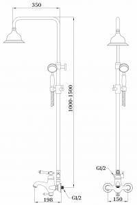 Душевая система GANZER SEVERIN GZ77061 Хром
