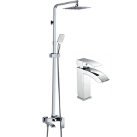 Набор для ванны 2 в 1 HANSEN H37044 Хром