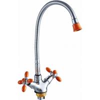 Смеситель для кухни с гибким изливом HANSEN H52052S Хром/Оранжевый