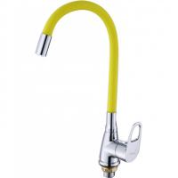 Смеситель для кухни с гибким изливом HANSEN H59004V Хром/Желтый
