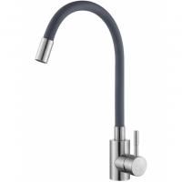 Смеситель для кухни с гибким изливом HANSEN H59304GP Хром/Серый