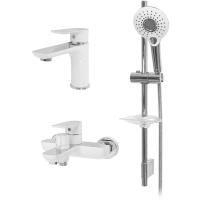 Набор для ванны 3 в 1 Hansberge NORDIC H7099W Белый с хромом