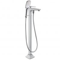 Смеситель для ванны напольный TIMO Helmi 4000/00-16Y-CR White