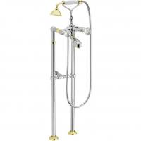 Cмеситель для ванны напольный Webert Karenina KA720801017 Хром/Золото
