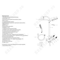 Душевая система Lemark Melange LM4960CW White