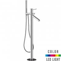 Cмеситель для ванны напольный Remer Minimal Color NR082 Хром