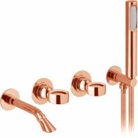 Cмеситель для ванны Webert Opera OA860312980 Розовое золото
