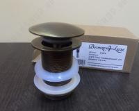 Донный клапан для раковины с переливом Bronze de Luxe 21972