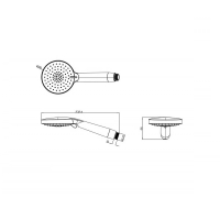 Душевая лейка Bravat P70306CP-WM-ENG Хром