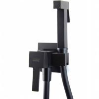 Смеситель встраиваемый с гигиеническим душем Webert Pegaso PE870303560 Черный матовый