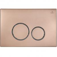 Клавиша для инсталляции AltroBagno PFP 005FQ Розовый металлик