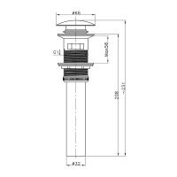 Донный клапан для раковины AltroBagno PU 070205 BrNe