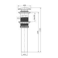 Донный клапан для раковины AltroBagno PU 070207 NeCr