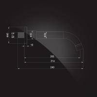 Излив настенный Elghansa RoundLine RS-2P Chrome