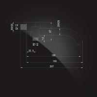 Излив настенный Elghansa SquareLine RS-4W Chrome
