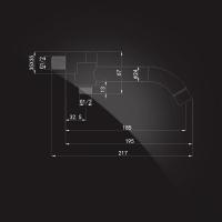Излив настенный Elghansa RoundLine RS-5P Chrome