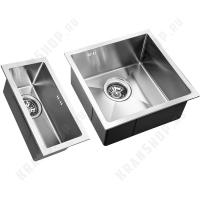 Комплект моек кухонных ZorG Inox RX-4444/2344 Chrome