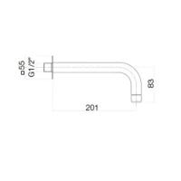 Излив настенный Webert Sax Evolution SE0371015 Хром