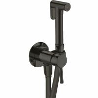 Смеситель встраиваемый с гигиеническим душем Webert Sax Evolution SE870303560 Черный матовый